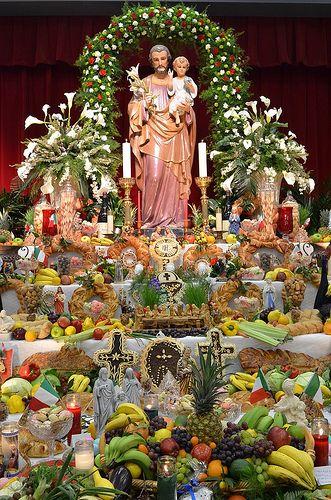 St. Joseph's Day altar in New Orleans.