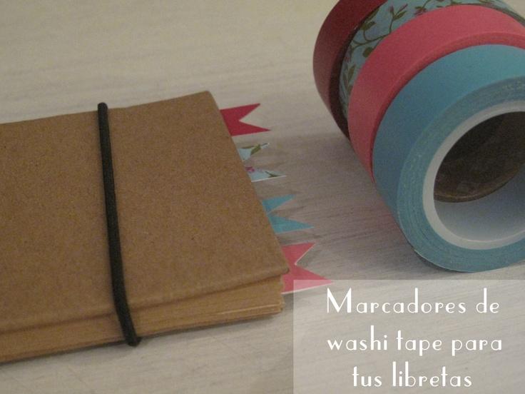 personaliza tus libretas con marcadores de washi tape - little hannah
