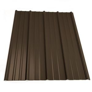 cabin roofing; Metal Sales 12 ft. Classic Rib Steel Roof Panel in Light Stone-2313463 at The Home Depot