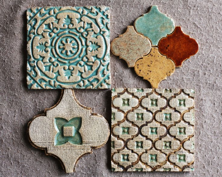 Moroccan Ceramic Tiles by HerbariumCeramics on Etsy https://www.etsy.com/listing/243317578/moroccan-ceramic-tiles