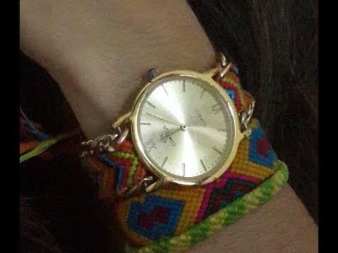 tutorial pulsera de hilos ancha pulseras faciles   frienships bracelets (macrame) - YouTube