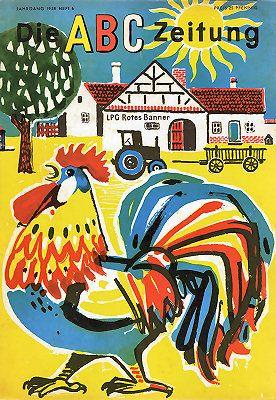 Vintage magazine for children, Cover ABC-Zeitung 6/58
