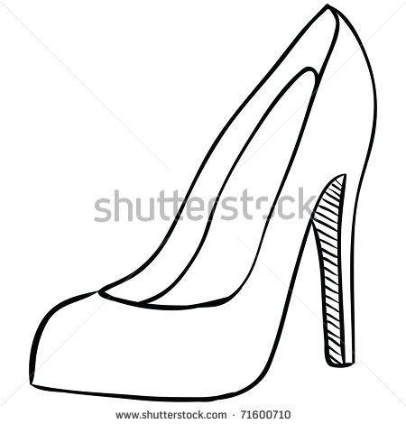 High Heel Shoe Template Printable