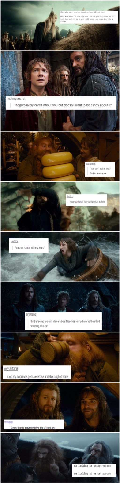 Hobbit + text posts are the best inventions ever.