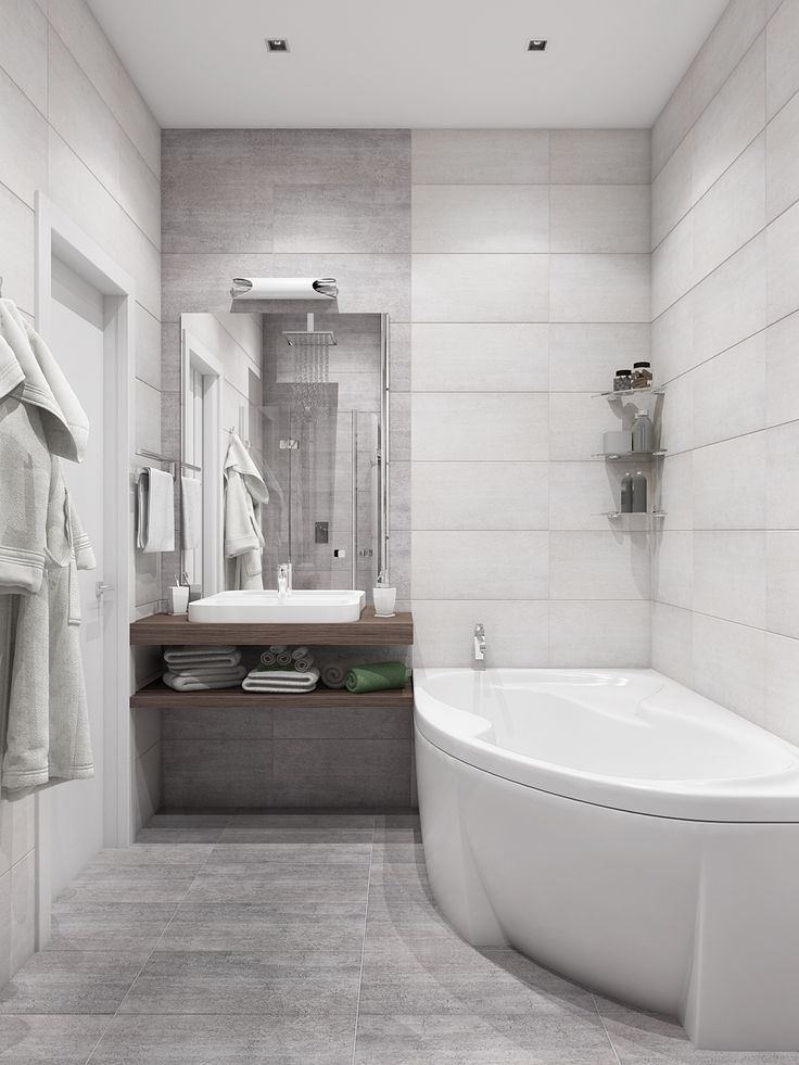 Дизайн санузла в стильной холостяцкой квартире. Только самое нужное: раковина и небольшое джакузи. И минимум мебели!
