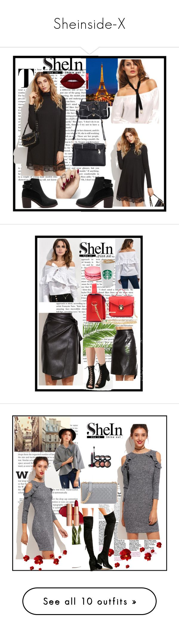 """""""Sheinside-X"""" by nihada-niky ❤ liked on Polyvore featuring Sheinside, Lime Crime, WithChic, Laura Geller, Oris and Nicki Minaj"""
