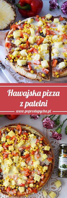 Lubicie pizzę na cienkim cieście? Jeżeli macie lepszej jakości patelnię (koniecznie z przykrywką) wtedy możecie wykonać pyszną pizzę hawajską, która podbije Wasze serca    #poprostupycha #stovit #pizza #obiad