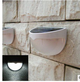 nice 2pack my's 6-led Solar Energy Powered,Waterproof Powered Rechargable Automatically Sensor wall light ,COLOR:WHITE,Dusk to Dawn Dark Sensing Auto on / OFF