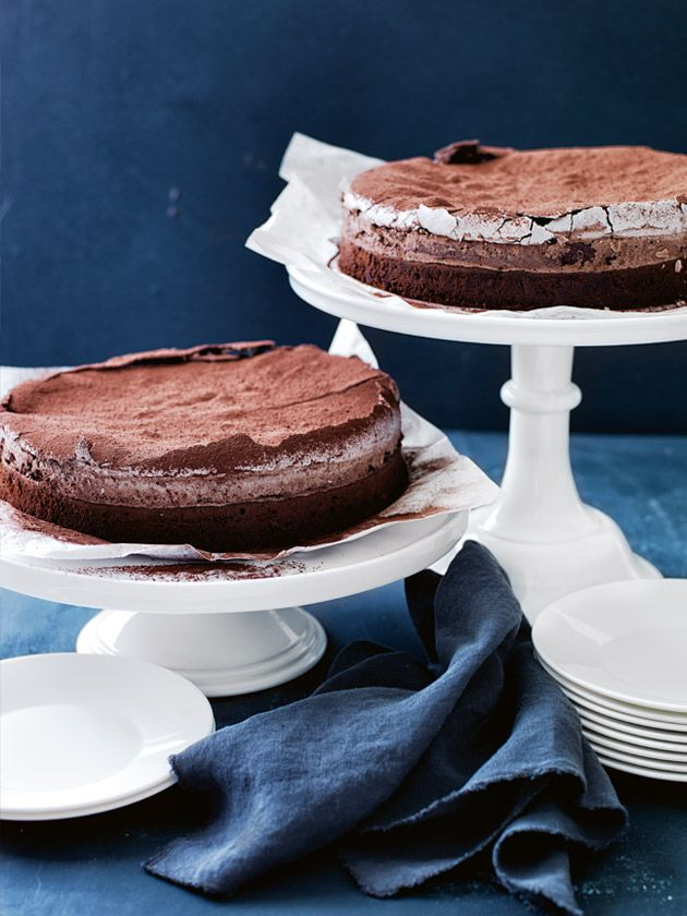 chocolate meringue cake from Donna Hay Magazine Autumn 2015 issue 80