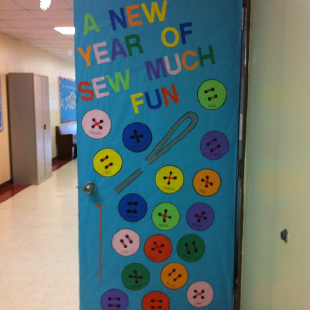 A New Year is Sew Much Fun | Library Bulletin Boards ...