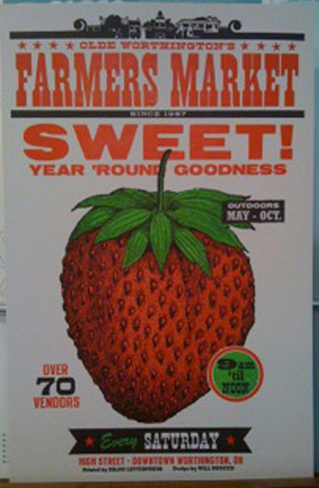 "Farmer's Market ""Sweet"" Strawberry Poster"