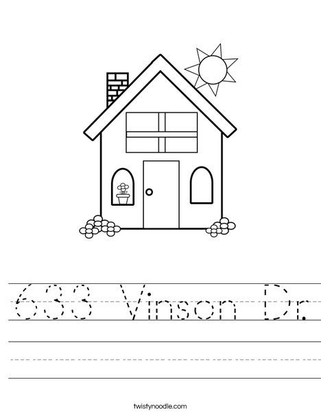 Address Jax Starts Kindergarten Pinterest Worksheets