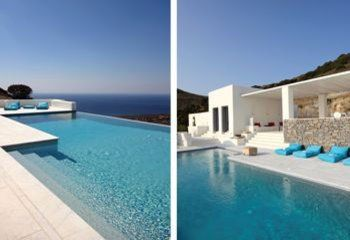 The villa is designed to provide outdoor living at its best, the private infinity swimming pool plays a fundamental role in the exteriors of the property, cleverly inserted into the grey marble terrace in prime position overlooking the sea.