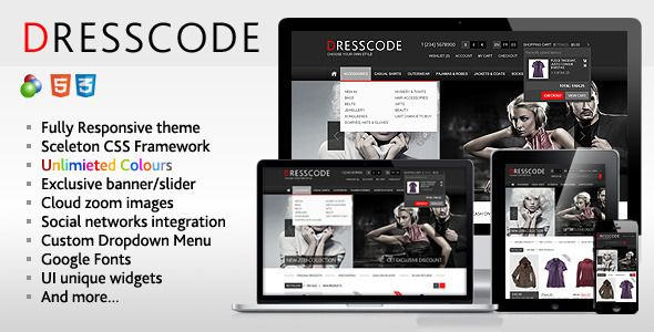 Dresscode is premium responsive osCommerce theme which can be used according to your needs and requirements. It includes a lot of custom features. Fully responsive, customizable, based on Sceleton CSS Framework. Compatible with osCommerce 2.3.x