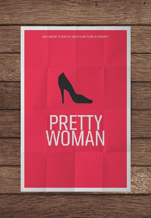 minimal movie posters  pretty women