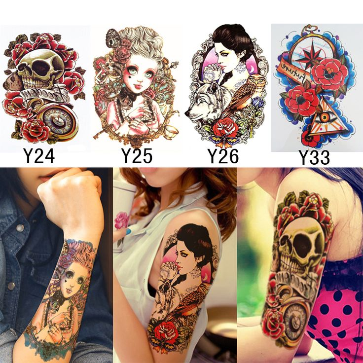 Cheap 4 Unids 3D Maquillaje Tatuajes Pegatinas Cosas Interesantes En El Brazo pierna Fake Tattoos Body Art Temporal A Prueba de agua Sexy Tatuaje De Henna pasta, Compro Calidad Tatuajes temporales directamente de los surtidores de China: 3D Tatoo For Body Art Cool Fake Tattoo Men Male Creative Design Black Dragon Waterproof Temporary Tattoo Stickers Sex Pr