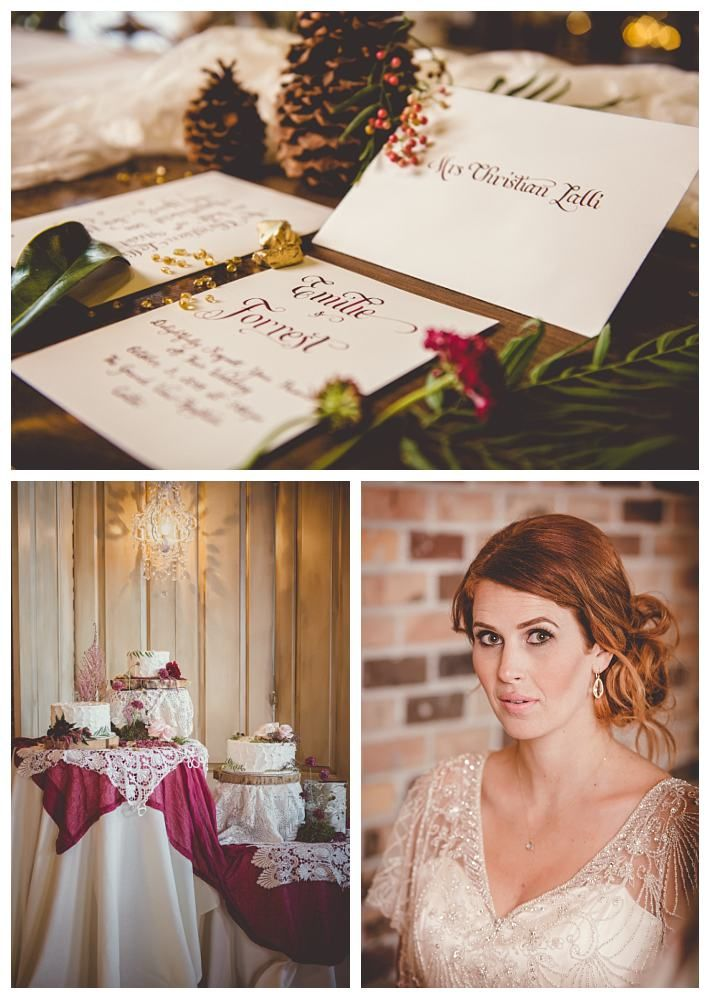 Autumn wedding invitations with calligraphy | The Penelope by Jasmine Bridal | Gateway Bridal & Prom | SLC | Utah | Fall | Autumn Wedding Inspiration | Lindsey Black Photography | Gold | Woodsy | Earthy | Burgundy | Grand View Reception Center