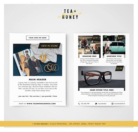 Premade Flyer Template A6 Modern Leaflet Design Photography