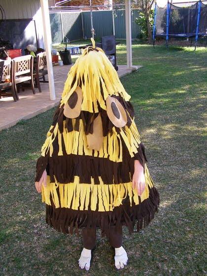 Home made Grug costume