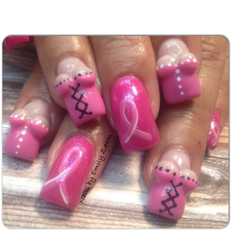 T Cancer Nail Art