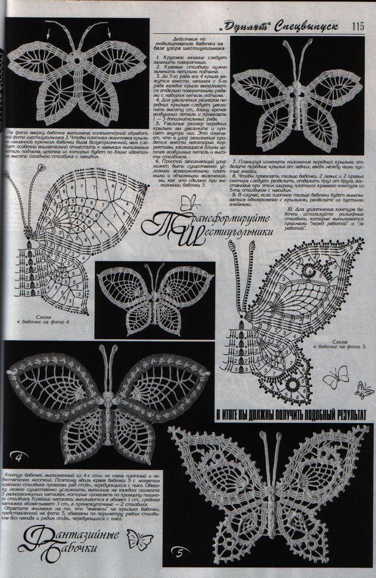 76 best crochet butterflies u0026 ladybugs images on pinterest