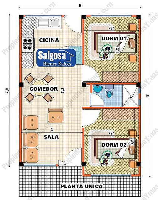 17 best images about house floor plans on pinterest one for Planos de casas chicas