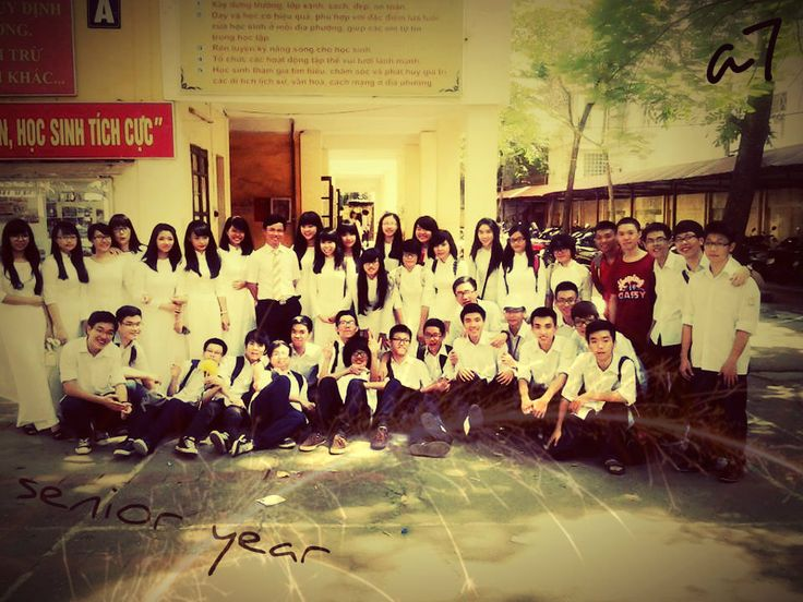 My class 12a7- KimLien High School  at the opening ceremony <3 <3 <3 <3 (5-9-2014) now and 4ever <3 :)