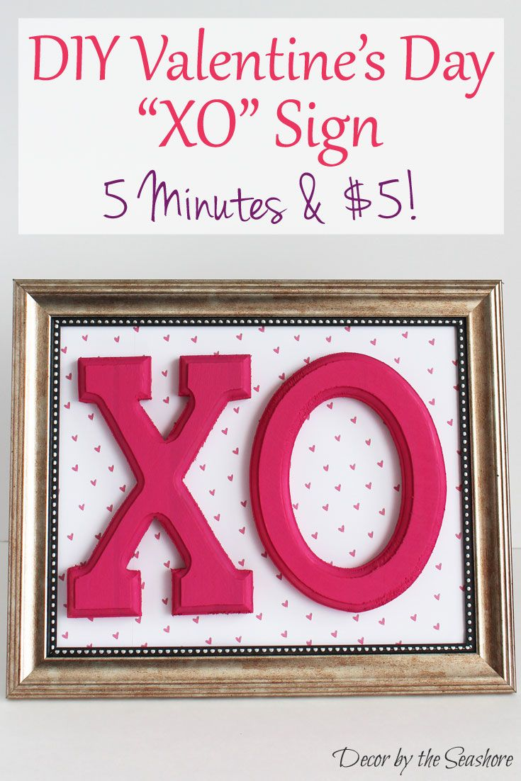 Make This Quick And Easy DIY Valentineu0027s Day Sign In 5 Minutes For $5!  Create