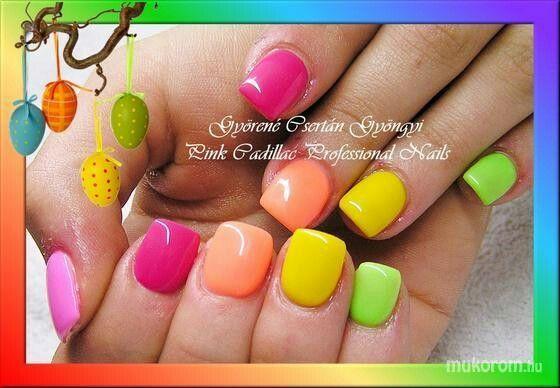 #nail #nails #nailart #beauty #nailsalon #naildesign #nailstyle #style #pinkcadillac #rainbow #gyongyinail