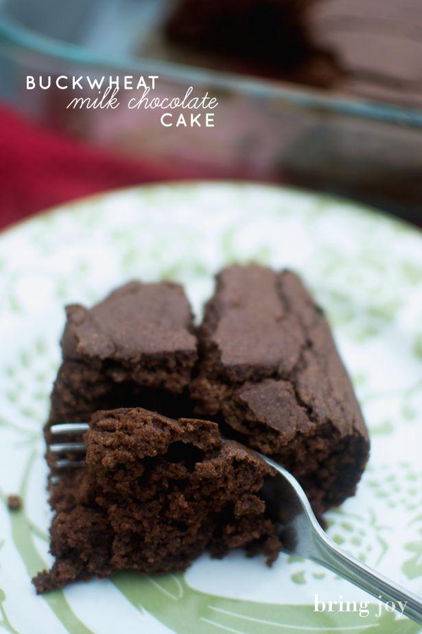 Milk chocolate buckwheat cake -- vegan & gluten-free | Recipe