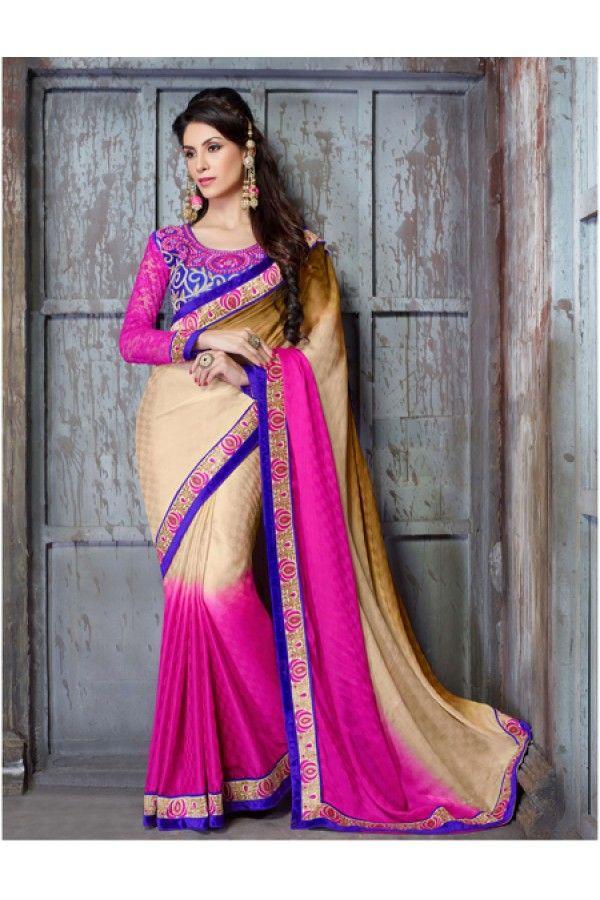Festival Wear Multi-Colour Georgette Saree  - 18146