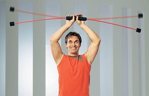 Krafttraining, Muskulatur, Sport, fitness, Workout, Rücken, Beine, Bauch, Po, Arme, Flexi-Bar, tiefliegende Muskelbereiche