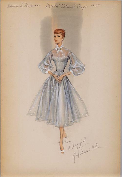 "Dress designed by Helen Rose for Debbie Reynolds in ""The Tender Trap"", 1955"