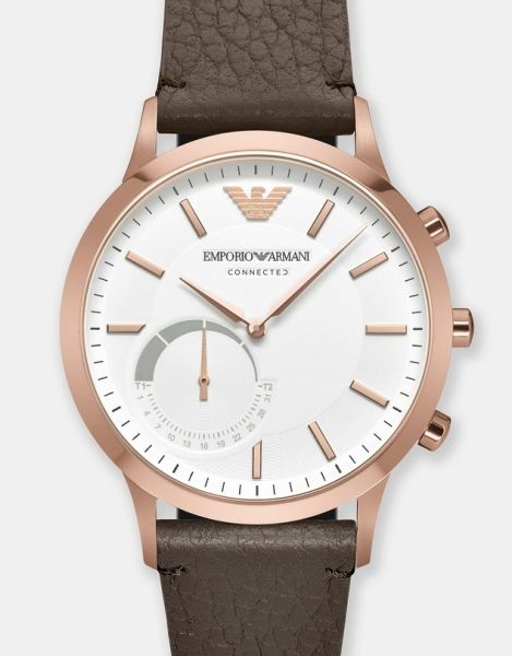 With+the+dynamic+styling+of+Emporio+Armani+design+&+the+benefits+of+today's+wearable+technology,+Emporio+Armani+makes+its+introduction+into+wearables+with+<b>The+Emporio+Armani+Connected+Hybrid+Smartwatch</b>.<br+/><br+/>+-+The+watch's+subdial+displays+the+date+&+tracks+your+goal+throughout+the+day<br+/>+-+This+timepiece+is+always+accurate,+&+automatically+converts+time+zone+&+date+as+you+travel<br+/>+-+Automatically+tracks+&+monitors+sleep+&+activity<br+/>+-+Allows+y...