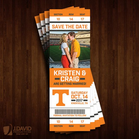 University of Tennessee Vols Save the Date by JDavidProductions