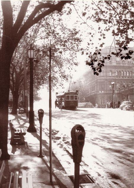 Paris end of Collins Street 1958 - Mark Strizic