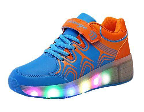 cnWay LED-Licht Heelys Schuhe Kind Mädchen Jungen Kinder LED Leuchtet Sneakers mit einem Cooly Roller Skateboard Schuhe ohne USB - http://on-line-kaufen.de/cnway/cnway-led-licht-heelys-schuhe-kind-maedchen-led