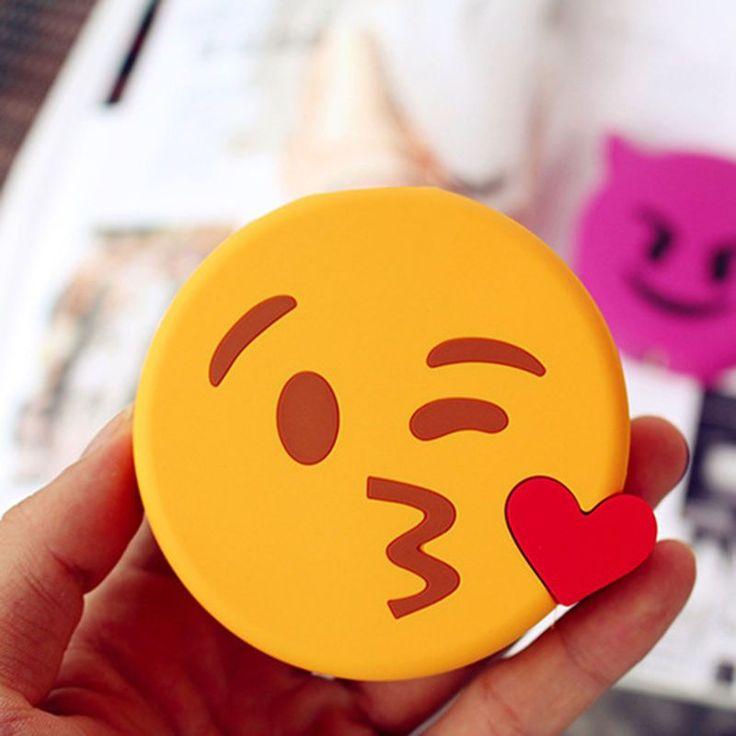 2016 Cute Cartoon Emoji Power Bank 8800mah Soft PVC Smile Tears Demon External Fun Charger battery For All Mobile Phone