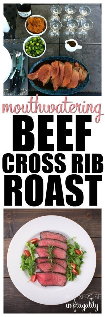 This MOUTHWATERING Beef Cross Rib Roast recipe is SO simple, it has just TWO ingredients! If you're avoiding packaged foods, then one of the ingredients can be made with spices you have in your cabinet. Still really easy! This will show you how to cook a tender cross rib roast, perfect for your holiday guests, Valentine's day dinner or any night! #recipes #ValentinesDay #datenight #lowcarb #LCHF #easy #dinner #dinnerrecipes