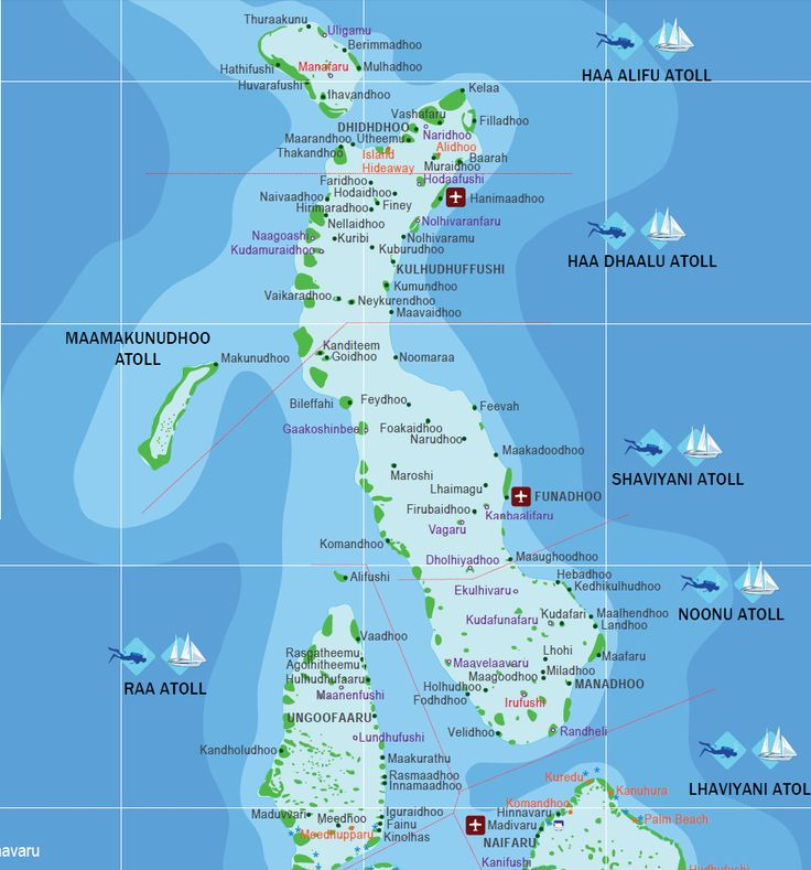 There are 1190 islands in the Maldives and this map shows them all.