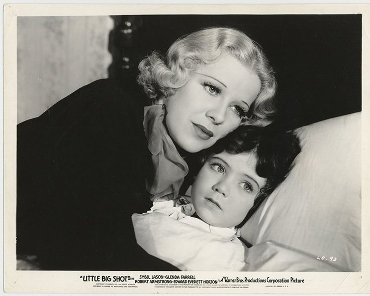Glenda Farrell and Sybil Jason in Little Big Shot (1935)