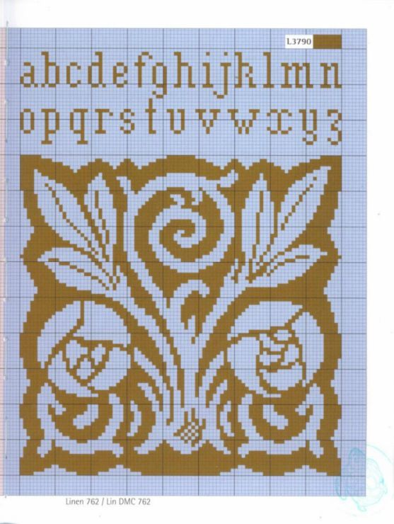 Gallery.ru / Фото #10 - Naturals nature - Mongia Charles Mackintosh roses alphabet cross stitch