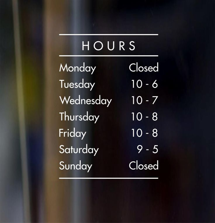 Best Business Hours Sign Ideas On Pinterest Store Hours - Custom vinyl decals vancouver