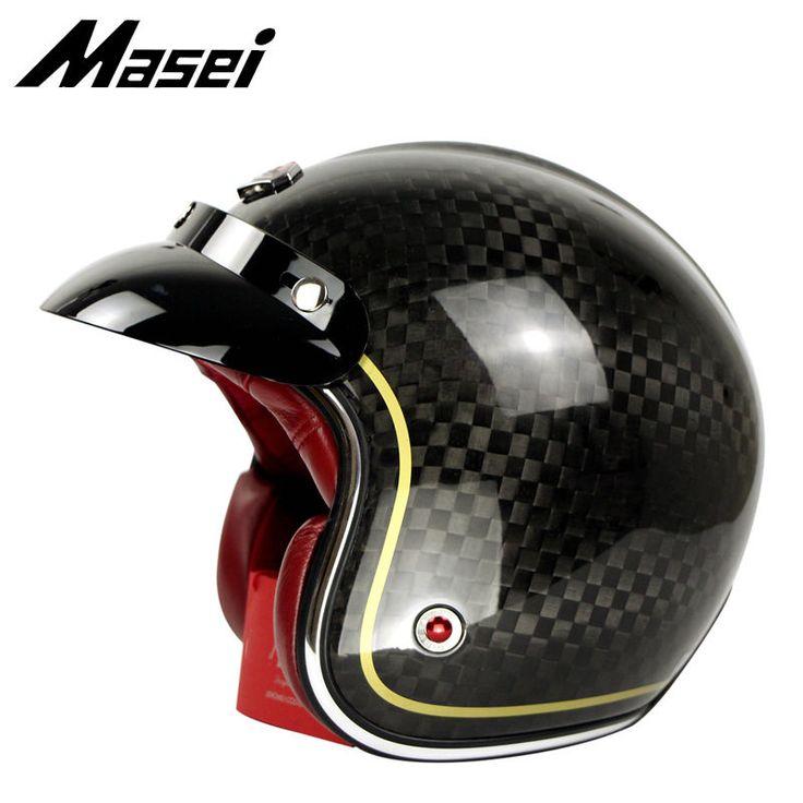 12K Carbon Fiber Helmet Open Face Scooter Vespa Motorcycle Gloss Black Chess Vin   eBay Motors, Parts & Accessories, Apparel & Merchandise   eBay!