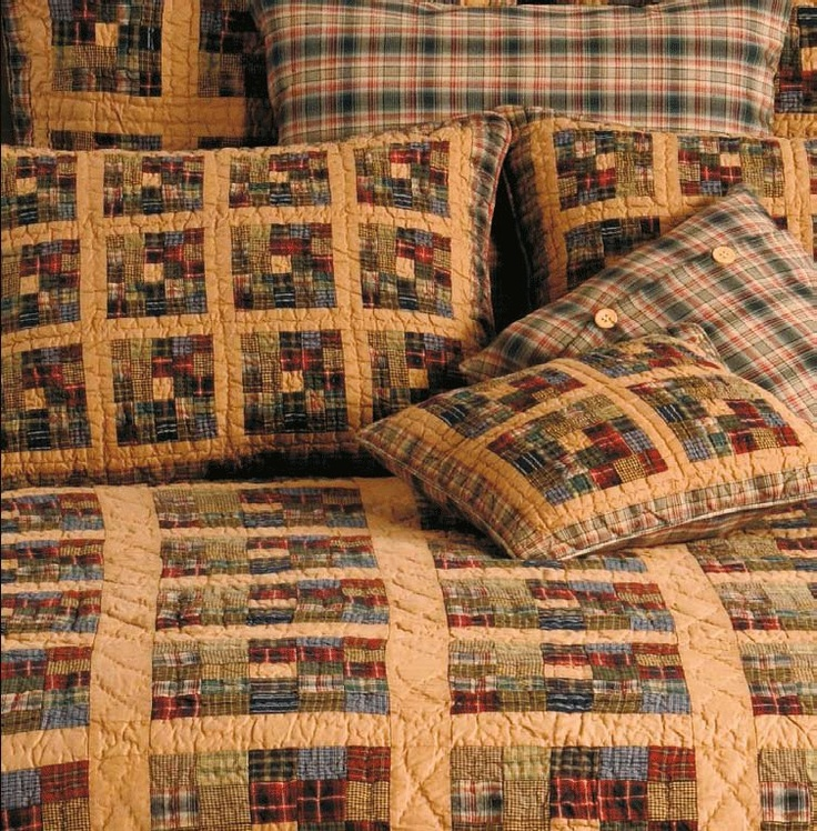 Image detail for -This is our Tea Dyed Postage Stamp Patchwork Quilt