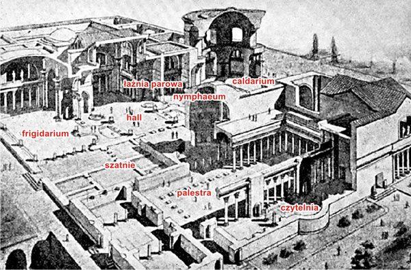 TERMY KARAKALLI  Miejsce: Rzym, Data: 212-216 AD, Fundator: cesarz Karkalla, Architekt: