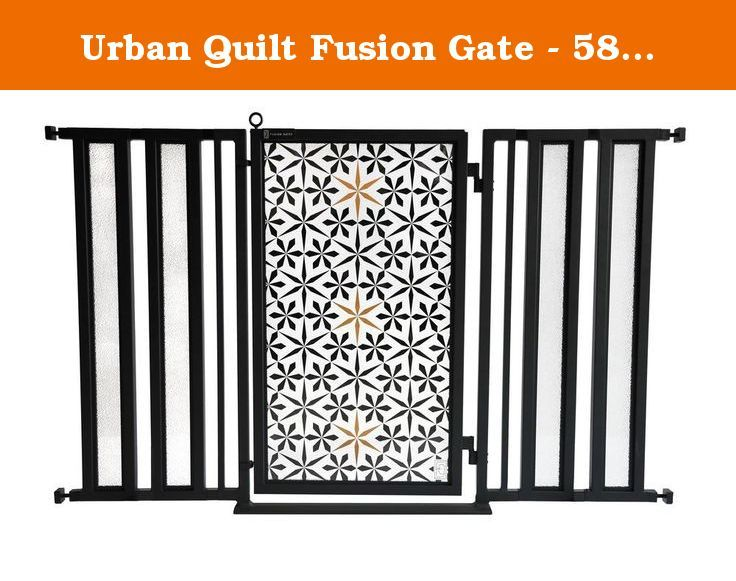 "Urban Quilt Fusion Gate - 58"" - 61"". The Fusion Gate, featuring a Scandinavian inspired Urban Quilt desig , is a premium, dual-mounted pressure pet gate that is engineered for safety but designed as a work of art. Built to strict ASTM standards, this innovative dog/baby gate fits entryways from 58""- 61"" and features a patented interchangeable art screen system with an ongoing collection of beautiful and relevant screen designs ranging from trendy to traditional. This innovative pet/baby…"