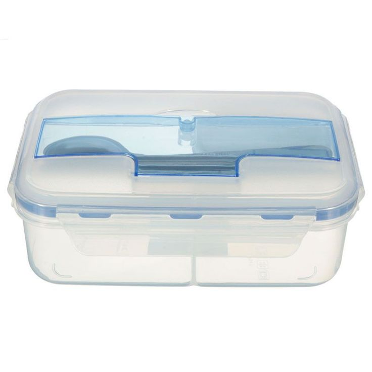 Outdoor Portable Microwave Lunch Box with Chopsticks Spoon Food Containers
