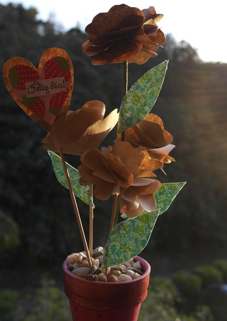 Flores de papel craft