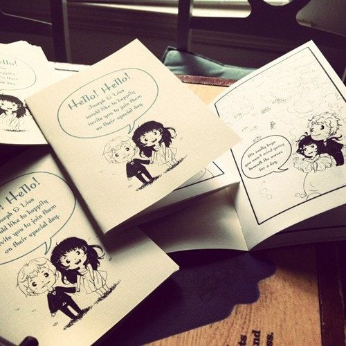 Design Custom Wedding Comic Invitations by KeroKeroCola on Etsy